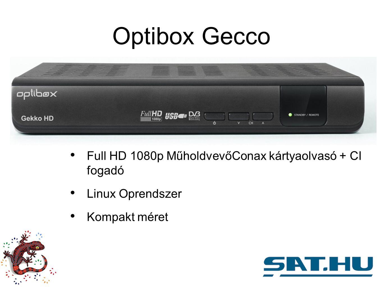 Optibox Gecco Full HD 1080p MűholdvevőConax kártyaolvasó + CI fogadó Linux Oprendszer Kompakt méret