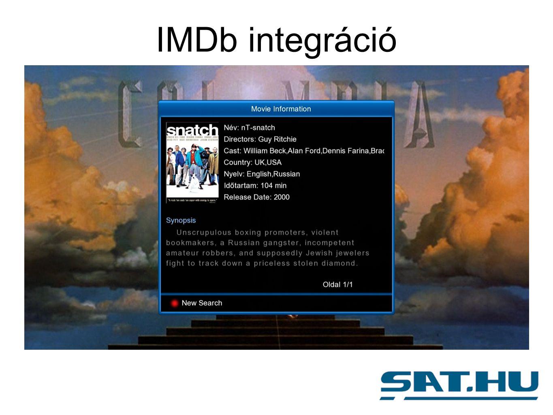 IMDb integráció