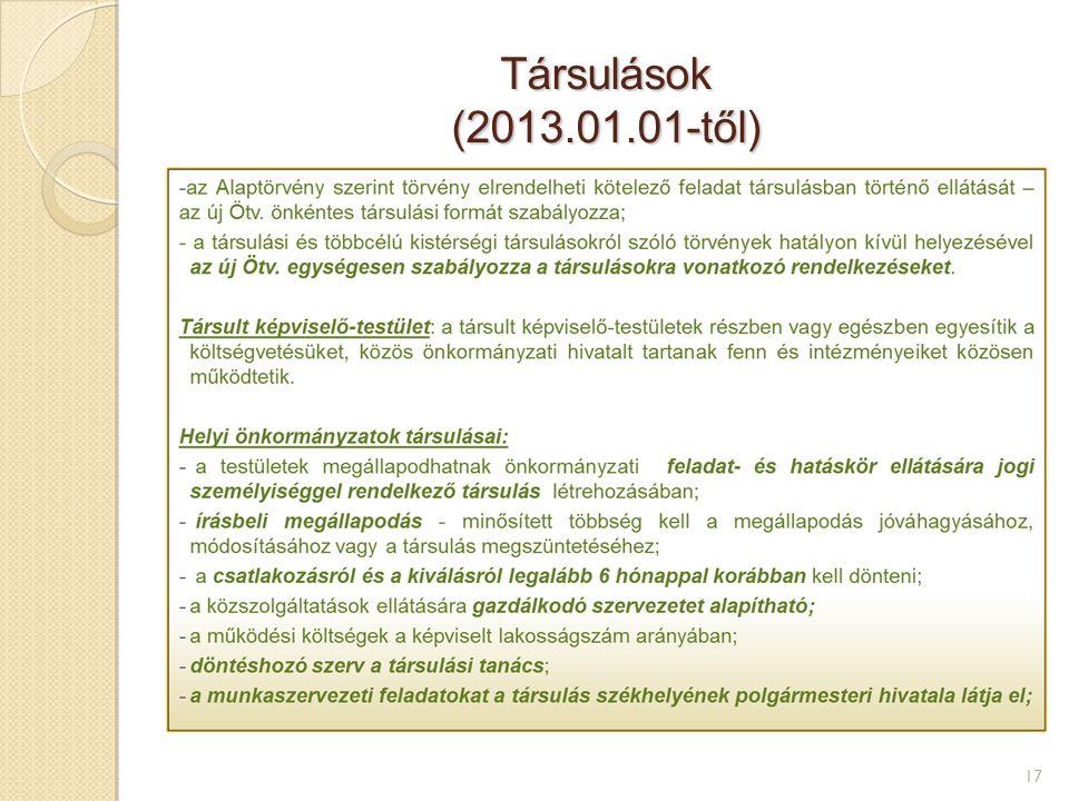 Társulások (2013.01.01-től) 17