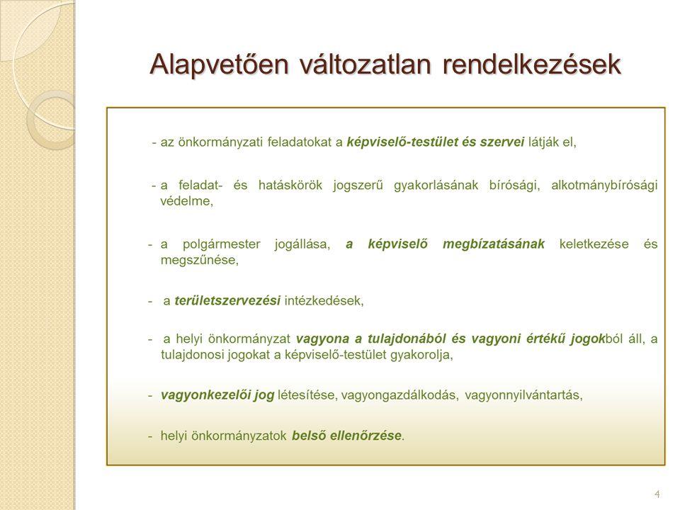 Az állami – önkormányzati feladatok újraszabályozása 5