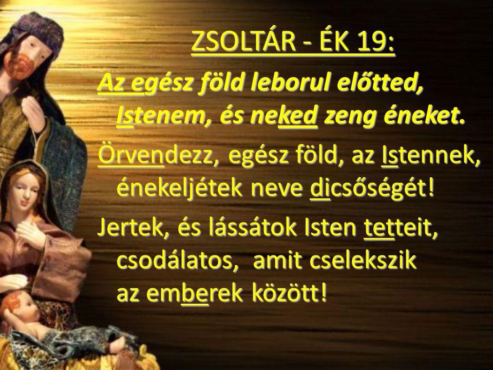 ZSOLTÁR - ÉK 19: Az egész föld leborul előtted, Istenem, és neked zeng éneket.