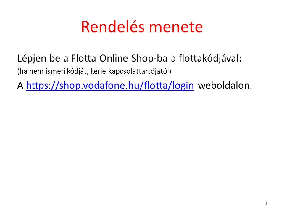 Rendelés menete: Flotta Online Shop nyitóoldal Írja be flotta kódját, majd kattintson a Bejelentkezés gombra.