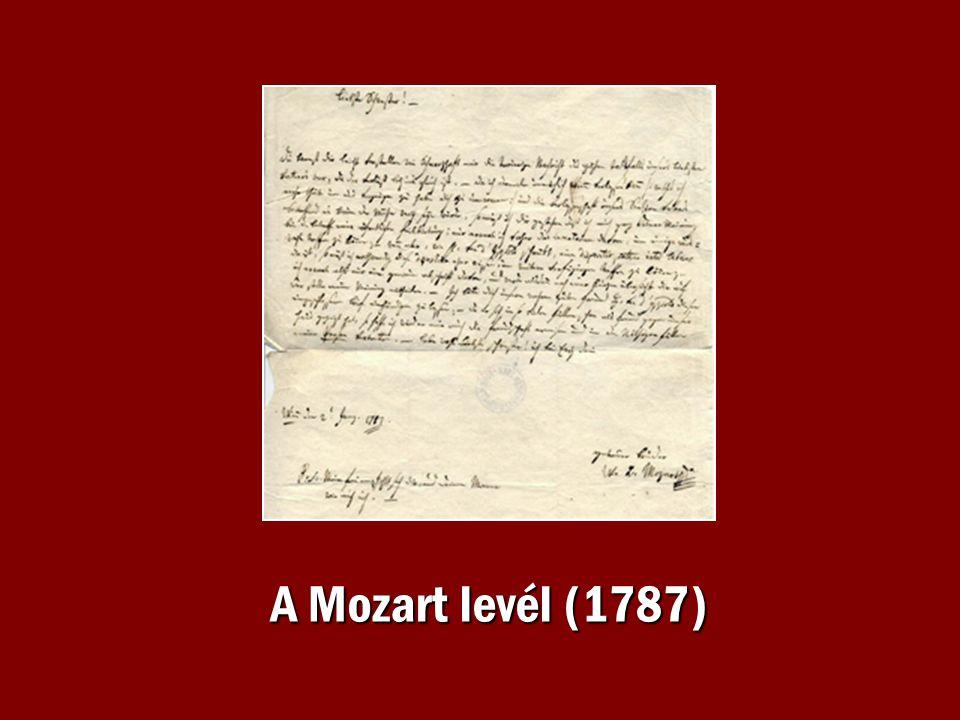 A Mozart levél (1787)