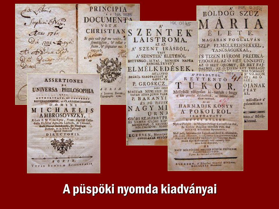 A püspöki nyomda kiadványai