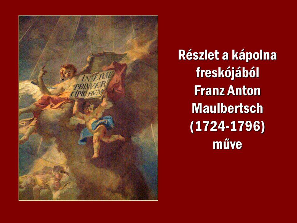 Részlet a kápolna freskójából Franz Anton Maulbertsch (1724-1796) műve