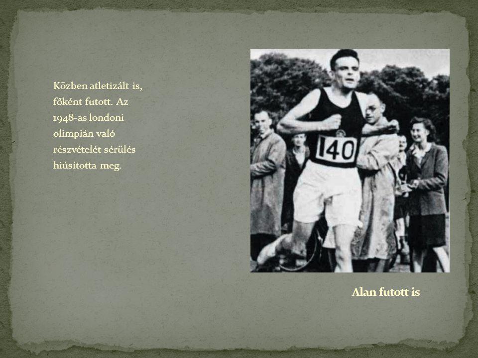 Közben atletizált is, főként futott. Az 1948-as londoni olimpián való részvételét sérülés hiúsította meg.