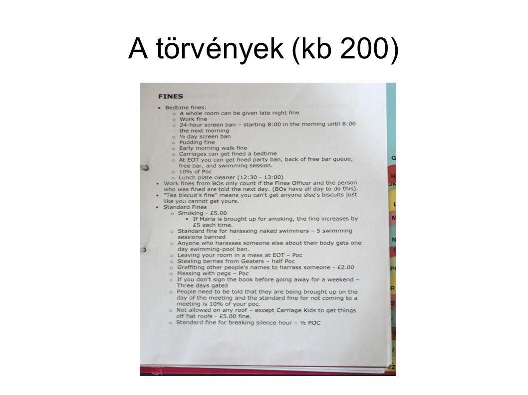 A törvények (kb 200)