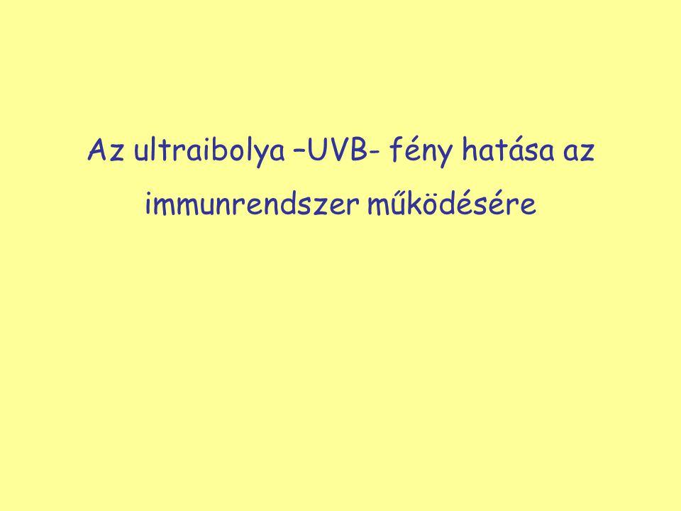 Az ultraibolya –UVB- fény hatása az immunrendszer működésére