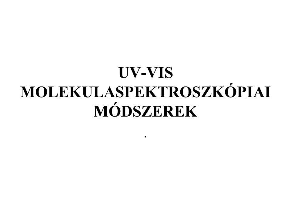 UV-VIS MOLEKULASPEKTROSZKÓPIAI MÓDSZEREK.