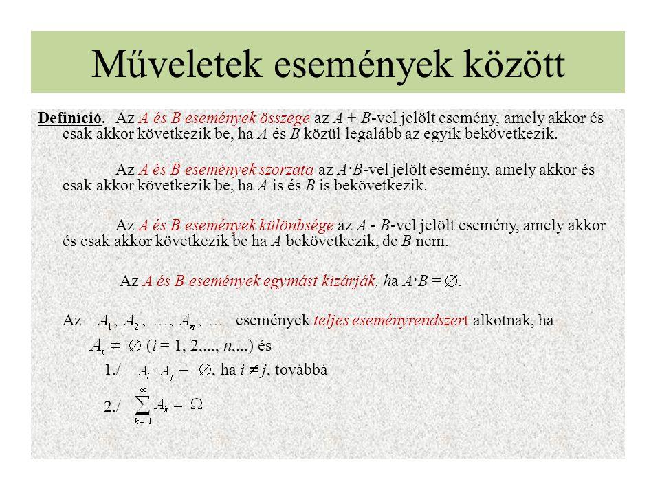 Kombinatorika A kombinatorika a véges halmazok elméletével foglalkozik.