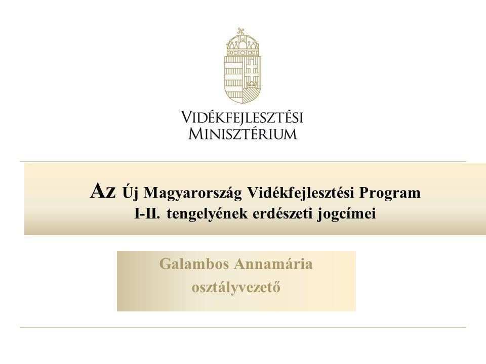 Az Új Magyarország Vidékfejlesztési Program I-II. tengelyének erdészeti jogcímei Galambos Annamária osztályvezető