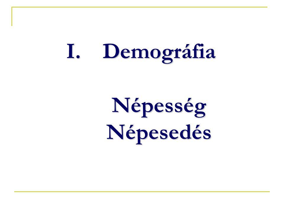 I.Demográfia Népesség Népesedés