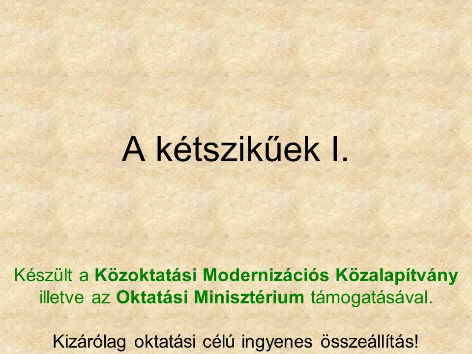 A kétszikűek I. Készült a Közoktatási Modernizációs Közalapítvány illetve az Oktatási Minisztérium támogatásával. Kizárólag oktatási célú ingyenes öss