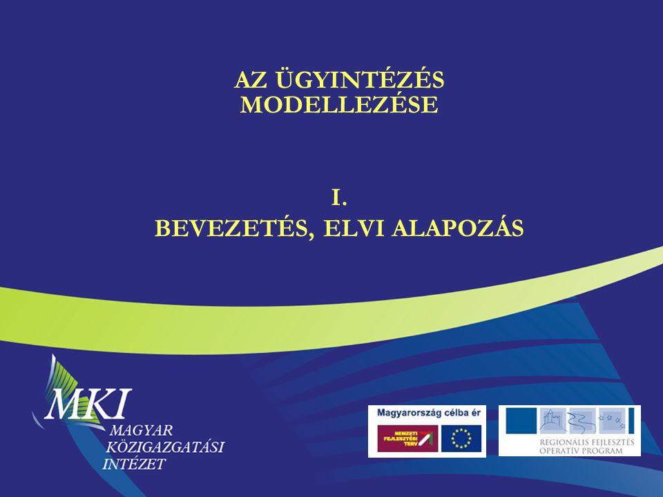 AZ ÜGYINTÉZÉS MODELLEZÉSE I. BEVEZETÉS, ELVI ALAPOZÁS