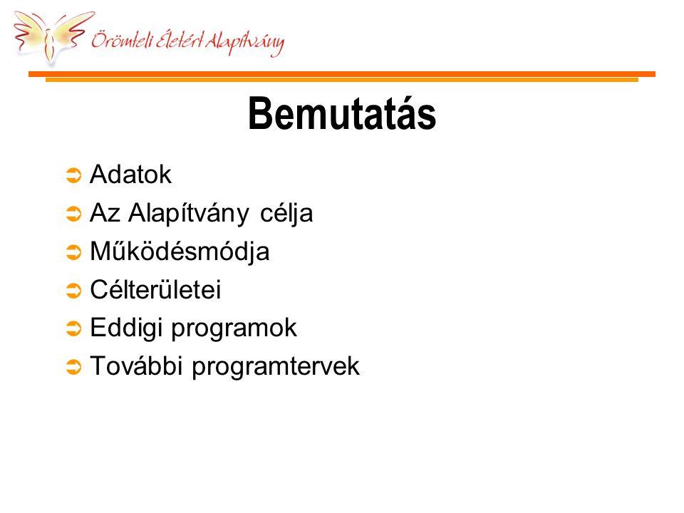 Adatok Ü Alapítás dátuma: 2005.augusztus 1.