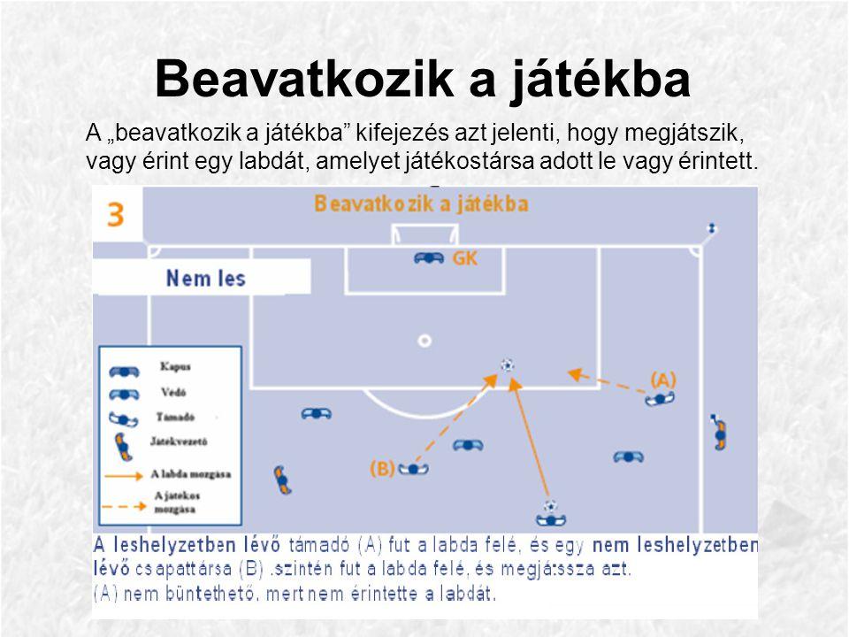 Klip 15 – A kapus hárítja a labdát ez által szándékosan véd.