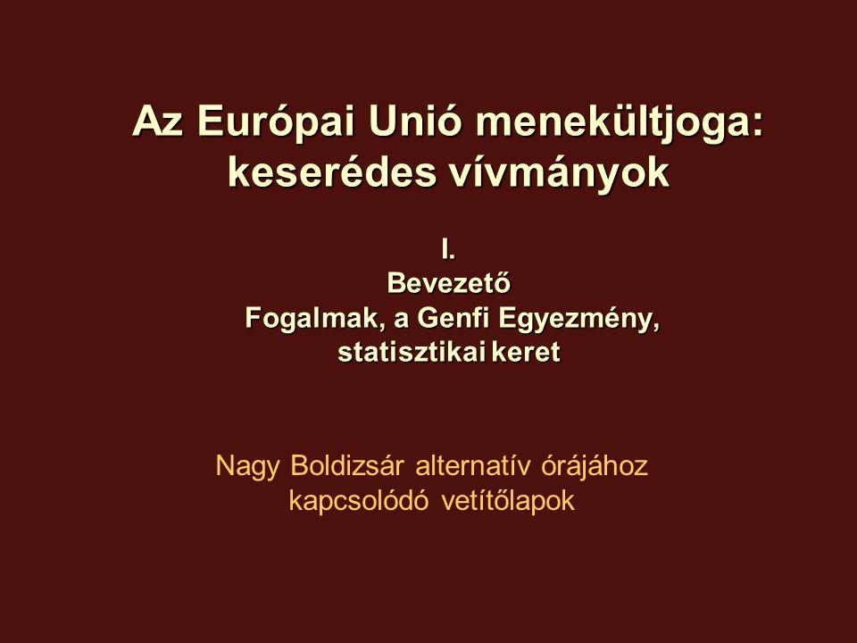 Kurzusterv 1: Genf felidézése, EU alapstruktúrák, migrációs számok, külföldiek helyzete 2: Korlátozó tendenciák, maastrichti korszak, Schengen, Dublin I és II, Eurodac 3: Ideiglenes védelem, Fogadási feltételek, Családegyesítés, Európai Menekültügyi Alap 2005-2010 4: A menekült definíció és a kiegészítő védelem 5: A menekültügyi eljárás minimumgaranciái