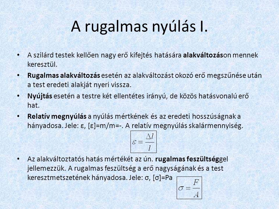 Rugalmas nyúlás II.