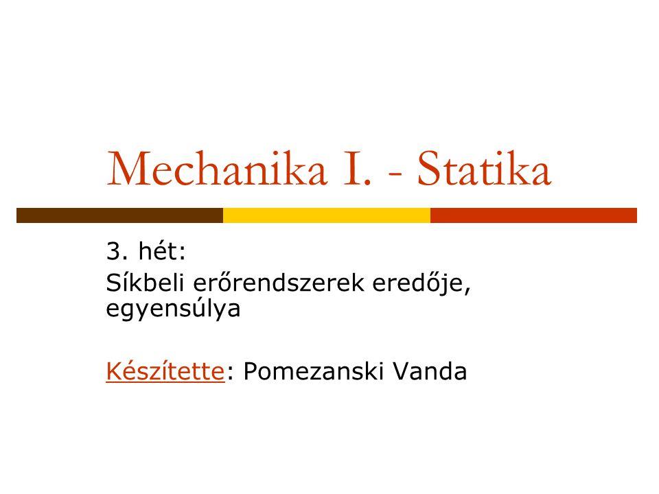 Mechanika I.- Statika 3.