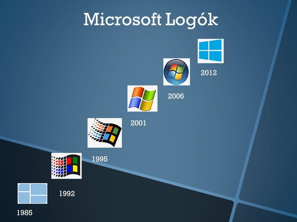 Microsoft Logók 1985 1992 1995 2001 2006 2012