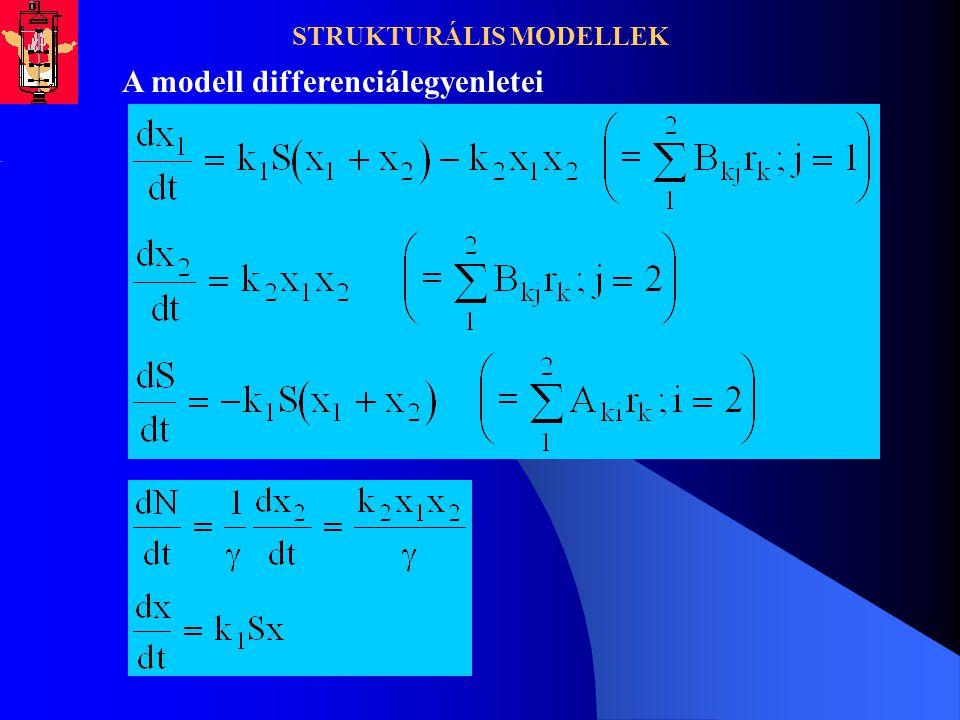 STRUKTURÁLIS MODELLEK A modell differenciálegyenletei