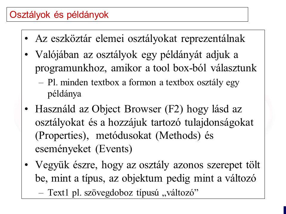 5 Objektum Orientált Terminológia Encapsulation (Egybezártság) –A tulajdonságok és a metódusok egységbe vannak zárva –Az objektummal csak azt tudjuk megtenni, amit az objektum tud (kérni lehet, manipulálni nem) –Az adatait nem láthatjuk közvetlenül