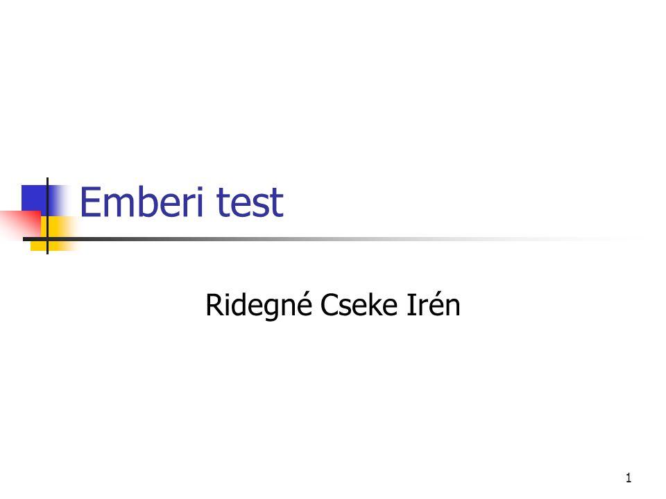 1 Emberi test Ridegné Cseke Irén