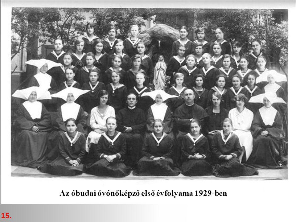 15. Az óbudai óvónőképző első évfolyama 1929-ben