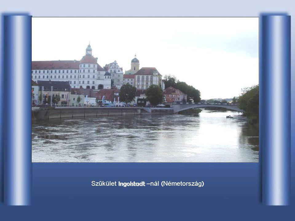 A Száva becsatlakozása a Duna jobb partján, B BB Belgrádnál (Szerbia)
