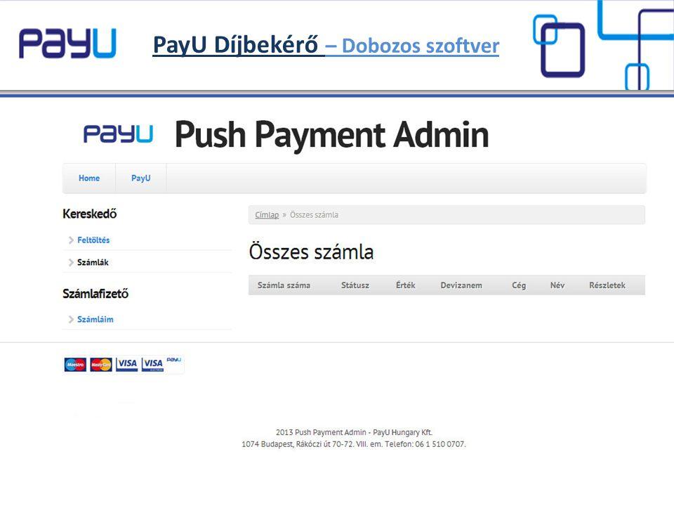 PayU Díjbekérő – Dobozos szoftver