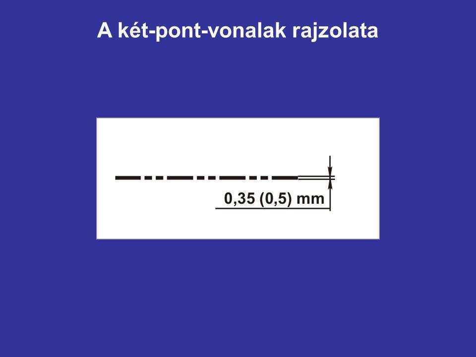 A két-pont-vonalak rajzolata