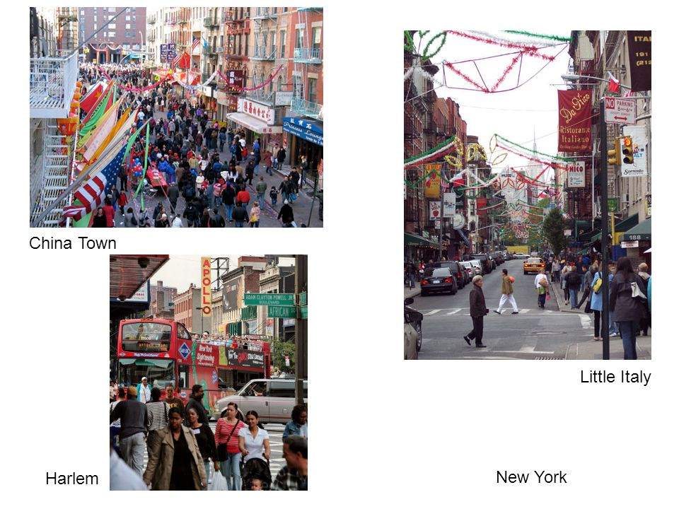 New York China Town Little Italy Harlem