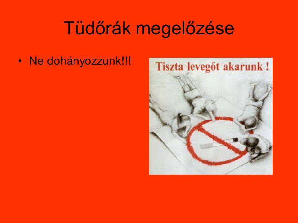 Tüdőrák megelőzése Ne dohányozzunk!!!