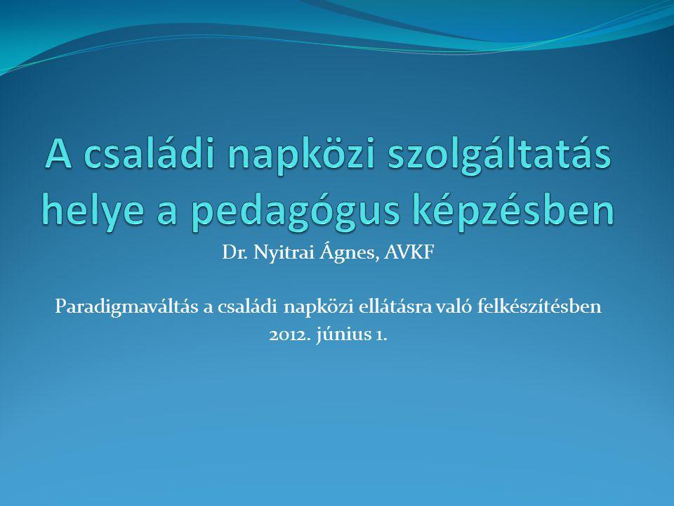 Dr. Nyitrai Ágnes, AVKF Paradigmaváltás a családi napközi ellátásra való felkészítésben 2012.