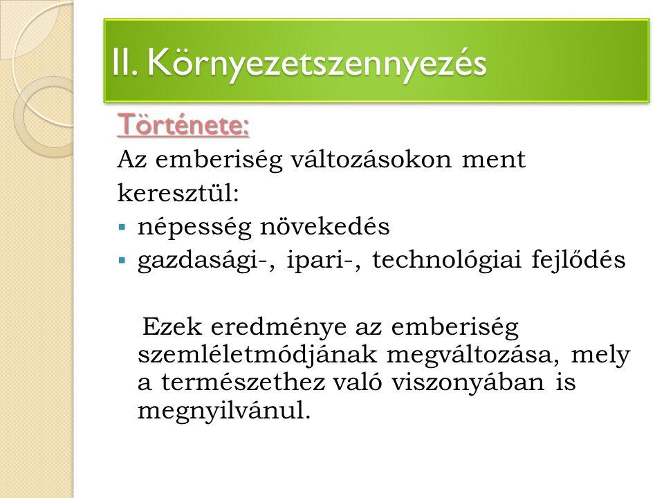 II.Környezetszennyezés Története: Kb.