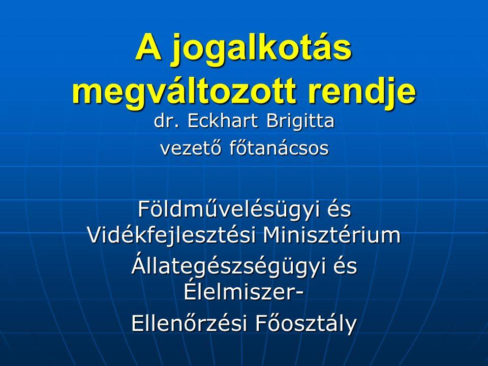 Jogalkotás rendjének megváltozása 1) EU intézményrendszere, jogalkotásban közreműködő intézmények.