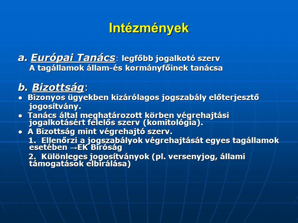 Intézmények II.c.