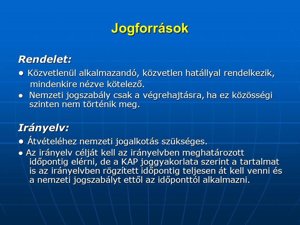 Jogforrások II.