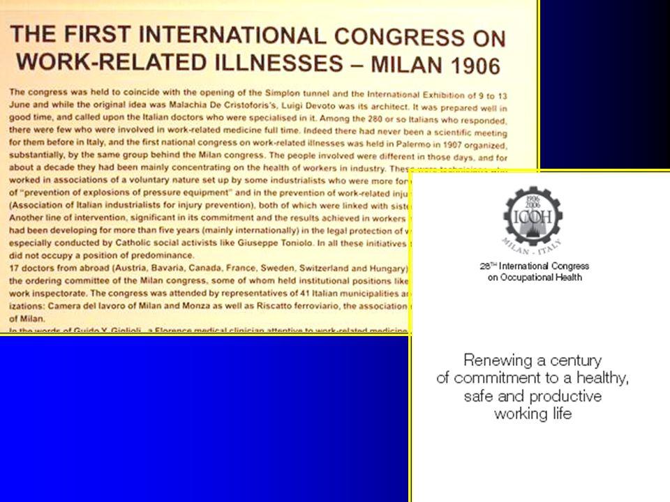 I C O H International Commission on Occupational Health Nemzetközi Foglalkozás-Egészségügyi Bizottság: nem kormányzati szervezet, nemzetközi szakértői társaság, alakult 1906-ban, Milánóban.