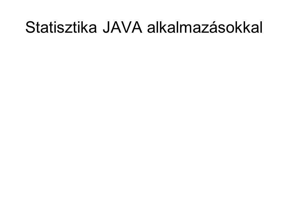 Statisztika JAVA alkalmazásokkal