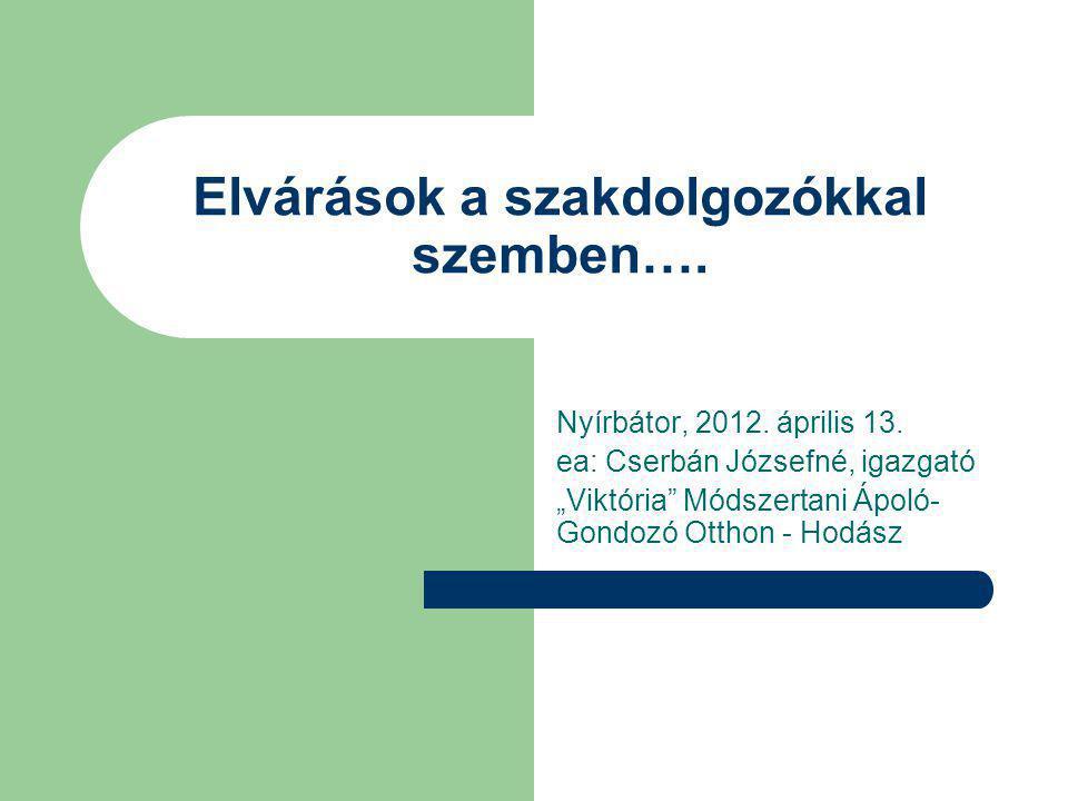Elvárások a szakdolgozókkal szemben….Nyírbátor, 2012.