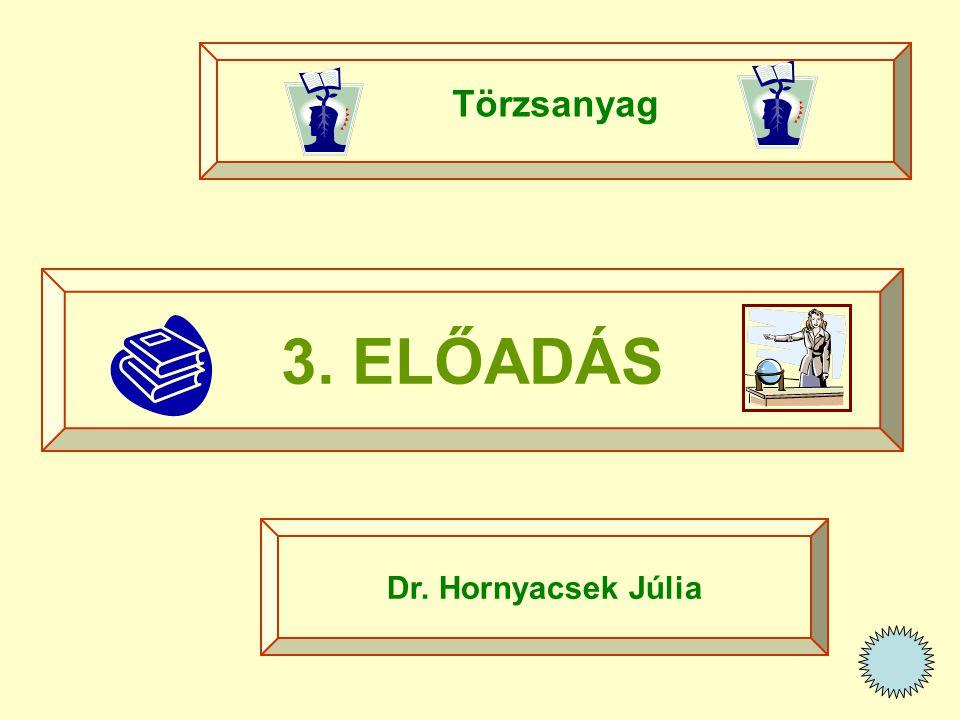 3. ELŐADÁS Törzsanyag Dr. Hornyacsek Júlia