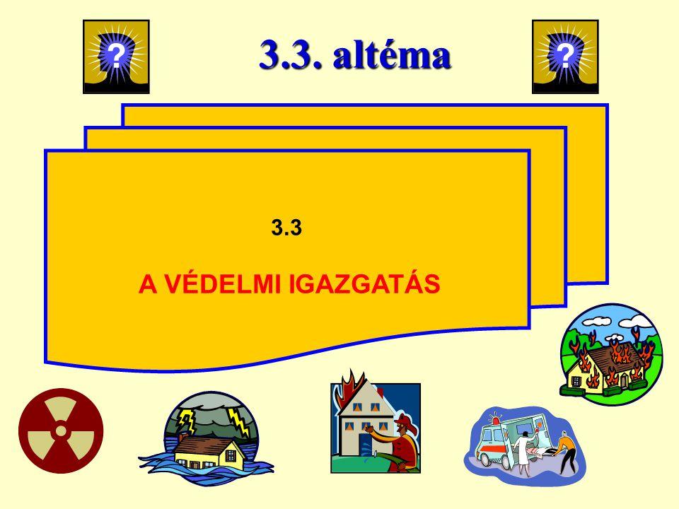 3.3. altéma 3.3 A VÉDELMI IGAZGATÁS