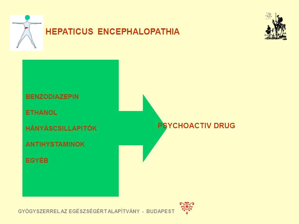 GYÓGYSZERREL AZ EGÉSZSÉGÉRT ALAPÍTVÁNY - BUDAPEST HEPATICUS ENCEPHALOPATHIA VENA PORTAE THROMBOSIS SEBÉSZI SHUNT SPONTÁN SHUNT TRANSJUGULARIS INTRAHEP