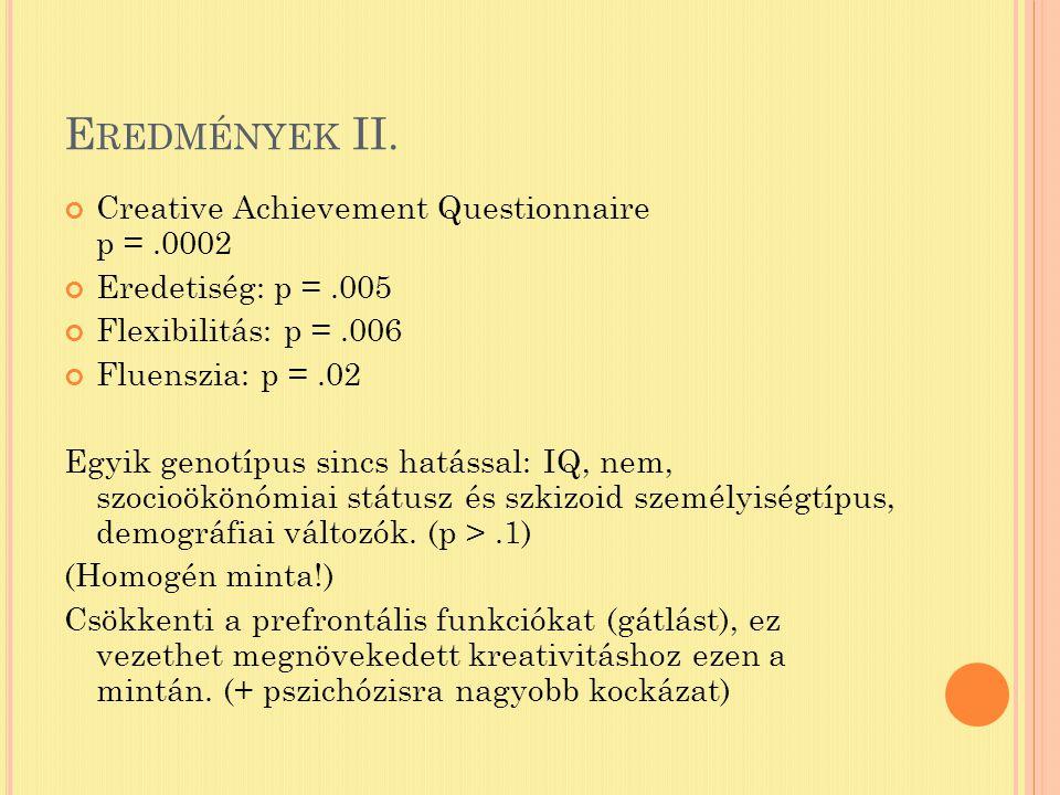 E REDMÉNYEK II.