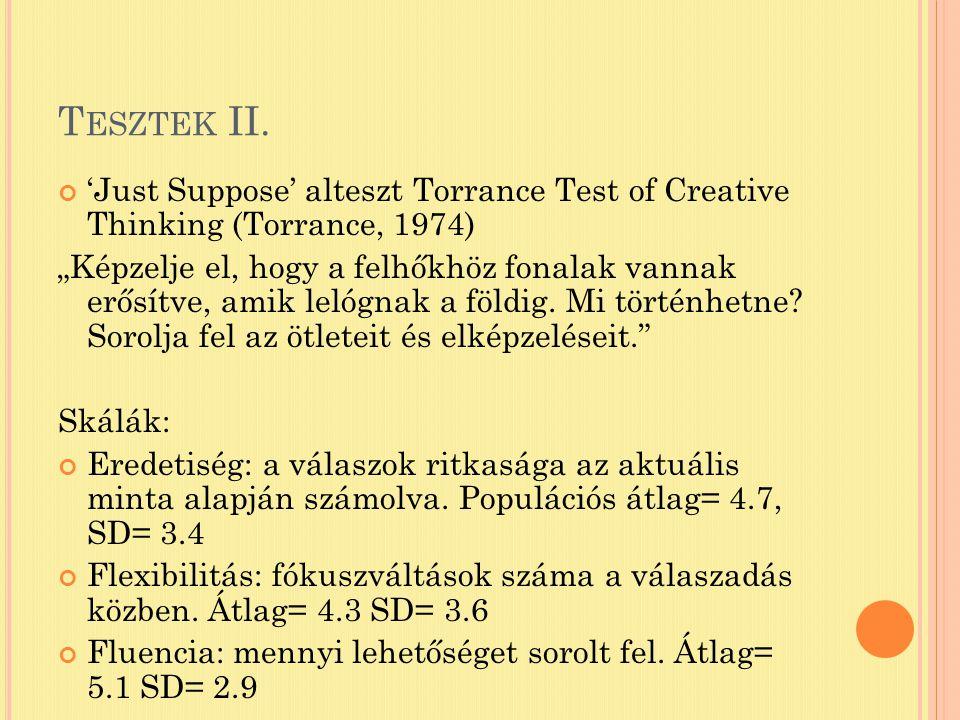 T ESZTEK II.