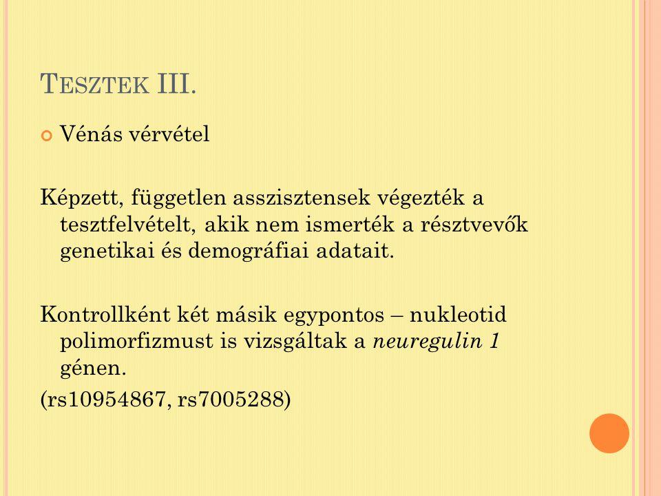 T ESZTEK III.