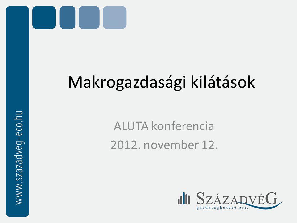 Makrogazdasági kilátások ALUTA konferencia 2012. november 12.
