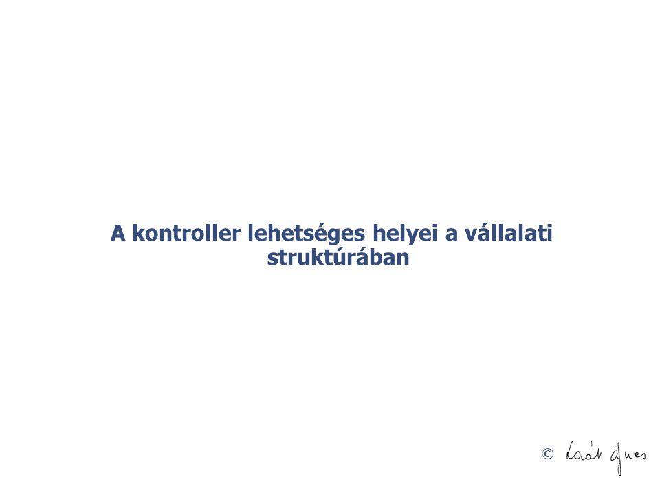 © A kontroller lehetséges helyei a vállalati struktúrában