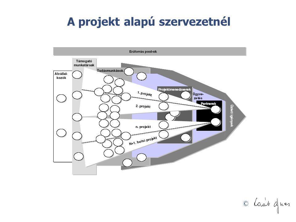 © A projekt alapú szervezetnél